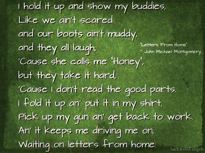 """""""Letters From Home"""" ~ John Michael Montgomery"""