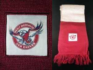 Manly Warringah Sea Eagles 2015 Members Scarf. Stronger Together.