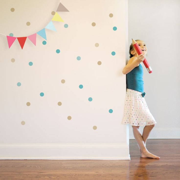 Enter to #win a $100 shopping spree to Trendy Peas to complete your nursery! #contest #giveaway: Dots Wall, Dot Wall Decals, Kids Room, Decal Dots, Baby Room, Kids Wall Decals, Confetti Wall