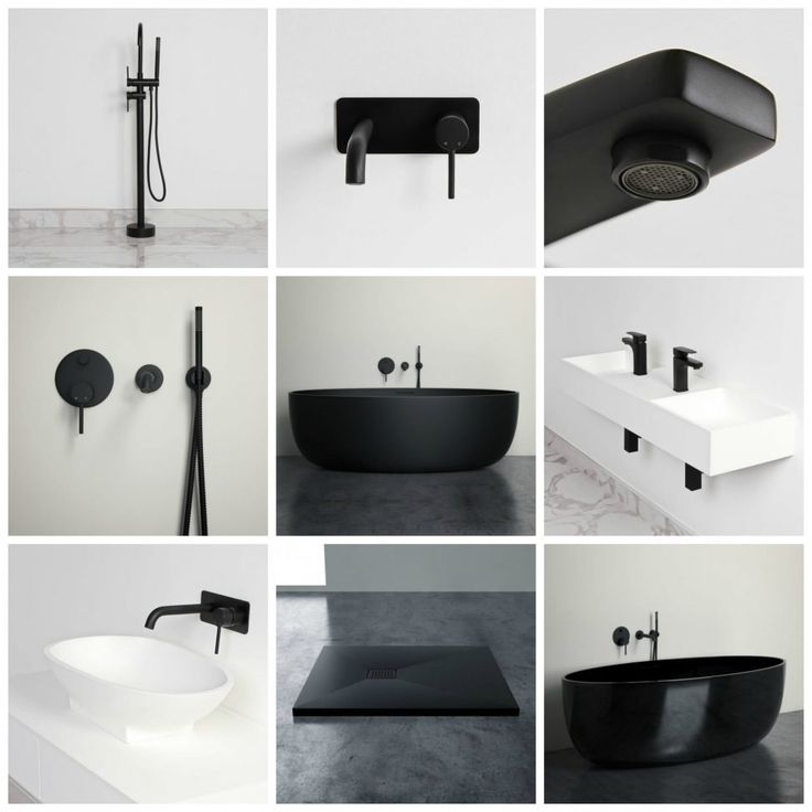 New Matte Black Bathroom Products | Lusso Stone. Trendy matte black taps for the bathroom. Stunning black taps.