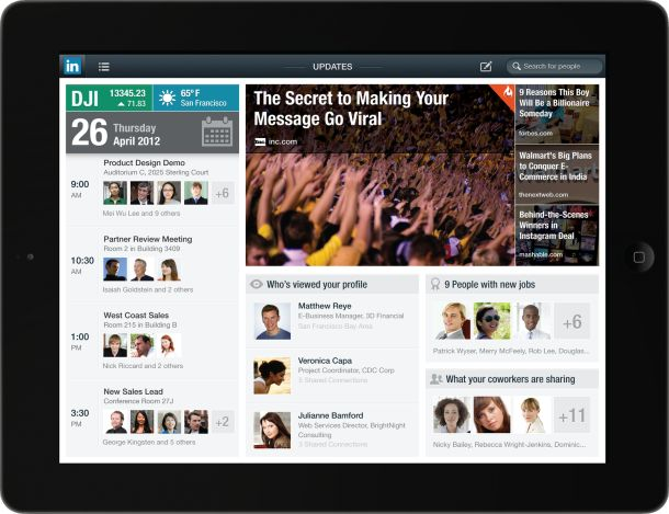 Linkedin revamps it' mobile platform and releases new iPad App focusing on offering great content as well as professional connections.