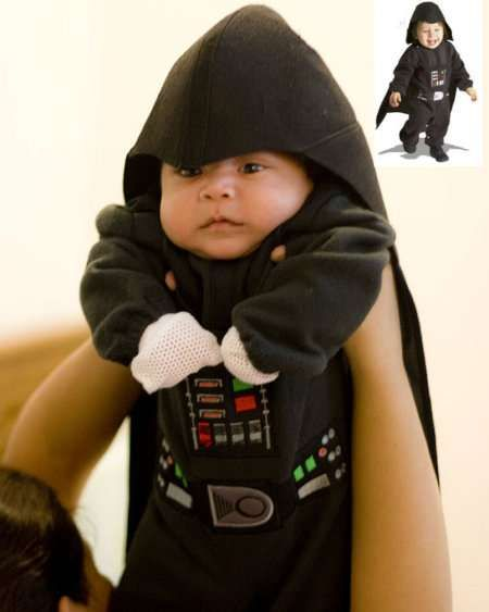 Let Your Child Command the Dark Side With the Darth Vader Halloween Get-Up #topbabytrends #trendykids trendhunter.com: