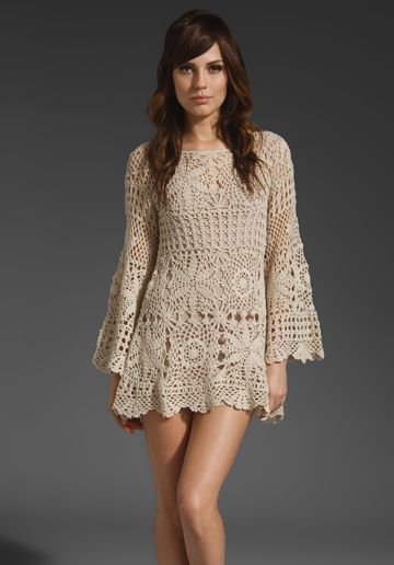 70's crochet. #inspiration_crochet_diy GB ... As a top though. Not sure I could wear it as a dress but it is very pretty