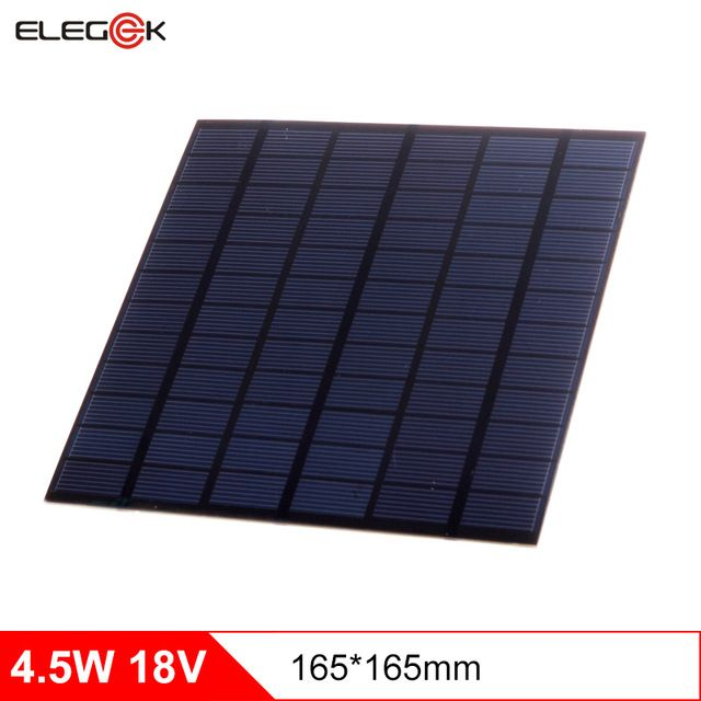 Elegeek 4 5w 18v Polycrystalline Solar Panel 250mah Mini Solar Panel Cell Charger For 12v Battery 18v Solar Panel Solar Energy Solar Panels Solar Panel System
