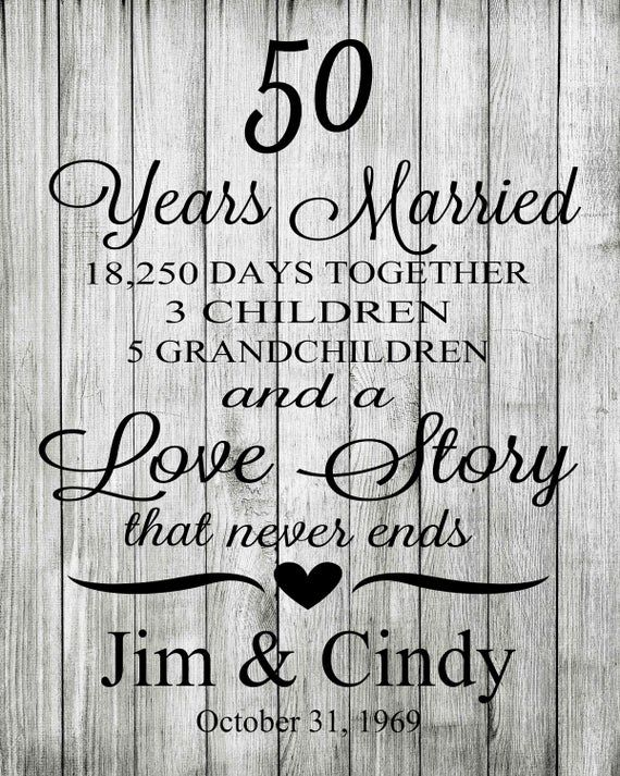 50th Anniversary Gift, Anniversary Gift for Husband and
