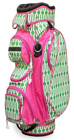 This great Golf Bag has it all! Don't miss to check out the new Fresh Pick Geo All For Color Ladies Cart Golf Bag. #golf #golfbags #lorisgolfshoppe