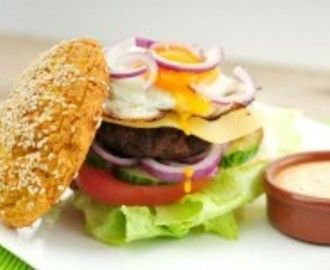 Broodje hamburger – koolhydraatarm