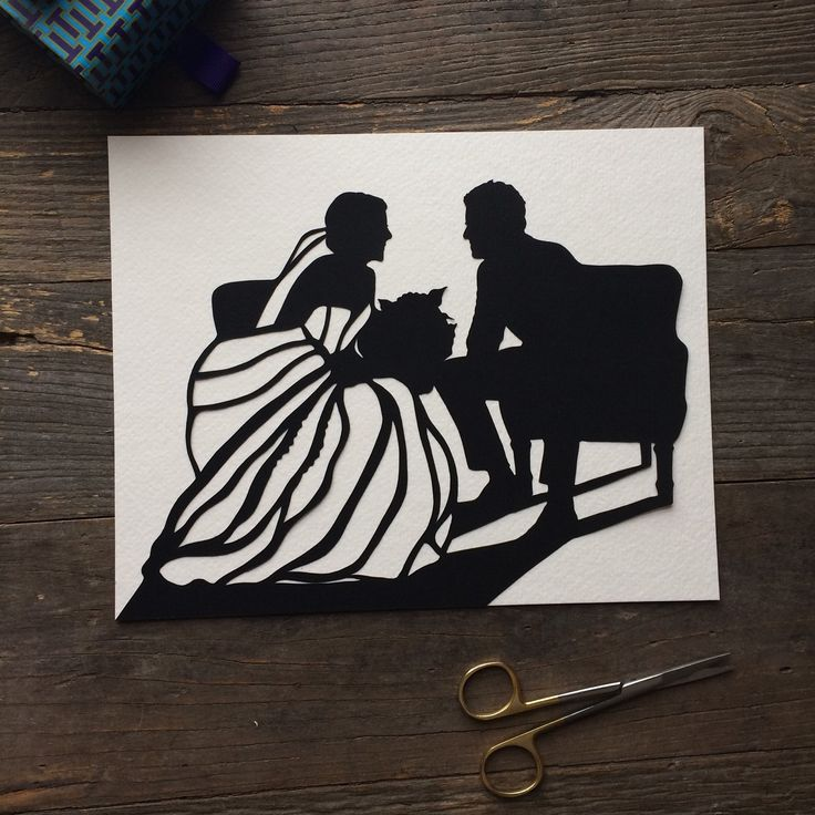 Every time you look at this elegant, #unique silhouette you will surely smile as you are flooded with the beautiful memories of your wedding. The art of silhouette makes any wedding photo look #elegant, stylish and inspiring. #custom #wedding #anniversary