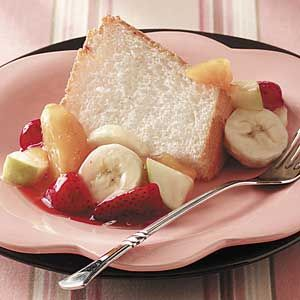Angel Food Cake With Peach Pie Filling