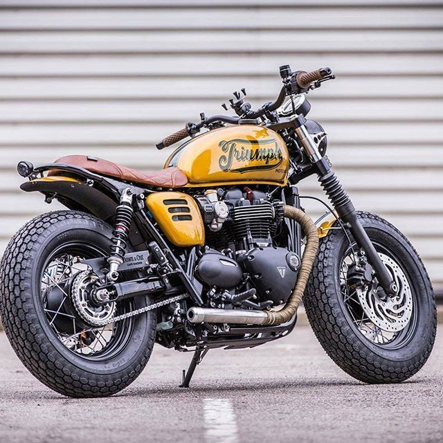Rate this one from 1-5    Triumph T120 by @downandoutmotorcycles  Follow us…