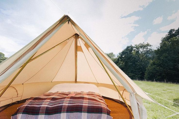A shot inside our cosy 3m tents - perfect for a couple. Really hoping the forecast is wrong and there isn't lightning while we're setting up tomorrow!