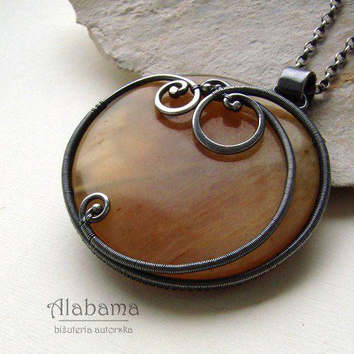 Medallion with bindweed Jewelry Pendants Alabama