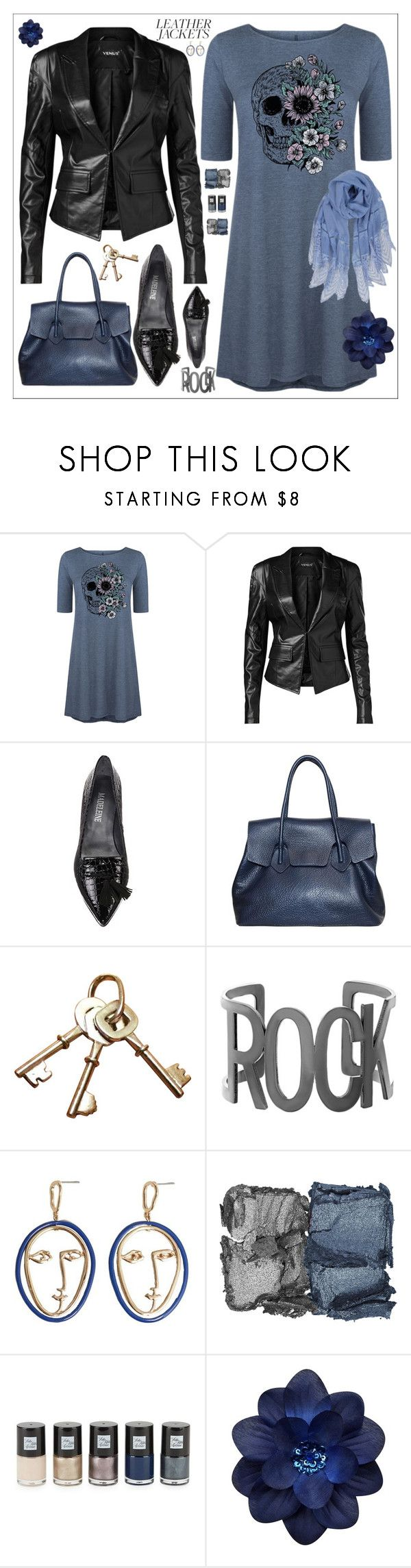 """""""Leather jacket"""" by amisha73 ❤ liked on Polyvore featuring LC Trendz, Venus, Steve Madden, MANGO, NARS Cosmetics, Saks Fifth Avenue and Humble Chic"""