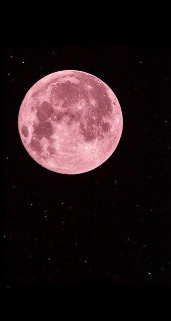 Papel de Parede Lua Rosa Tumblr para Celular HD #wallpaper #papeldeparede #moon