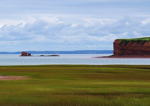 The view from Delhaven Wharf near Canning and Blomidon, Nova Scotia. Click link for more photos of the Annapolis Valley, Nova Scotia. #NovaScotia #VisitNovaScotia #AnnapolisValley #ExploreCanada