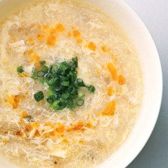 もやしの中華風とろみスープ
