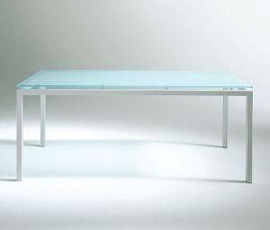 escritorio de vidrio templado de colores, base de caño 3x3cm