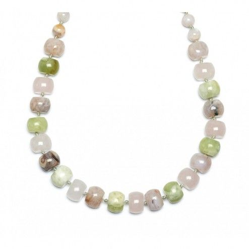 Lola Rose Loren Bamboo Stone & Waterlily Serpentine Necklace