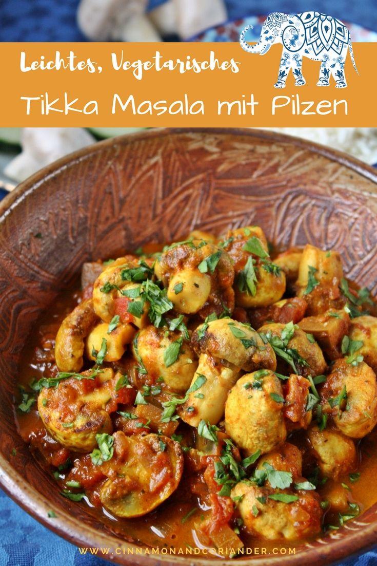 Vegetarisches Tikka Masala mit Pilzen für 2 Personen. Dieses würzige Tikka Masala mit Pilzen ist eine herrliche vegetarische Variante des indischen Klassikers Chicken Tikka Masala! Serviert es mit Basmati- oder Blumenkohl Reis für eine nahrhafte vegetarische Mahlzeit.