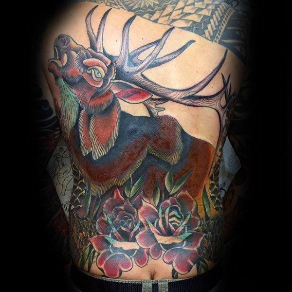 50 traditionelle Rose Tattoo Designs für Männer - Blumen