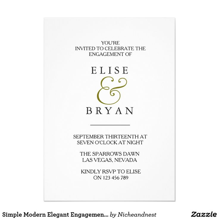 68 best Engagement Party Invitations images on Pinterest ...