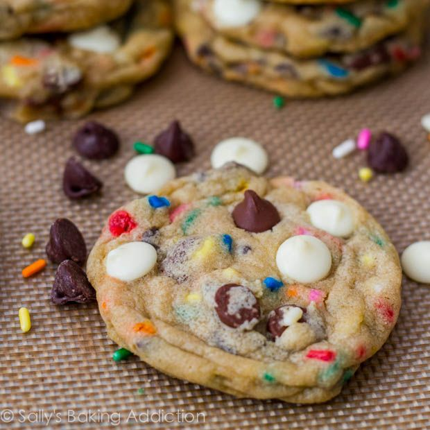 Cake Batter Chocolate Chip Cookies by Sallys Baking Addiction