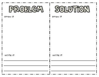 Problem solution worksheets elementary