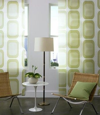 mid century modern window treatments – might do something similar in living room or den @ Home Design Ideas