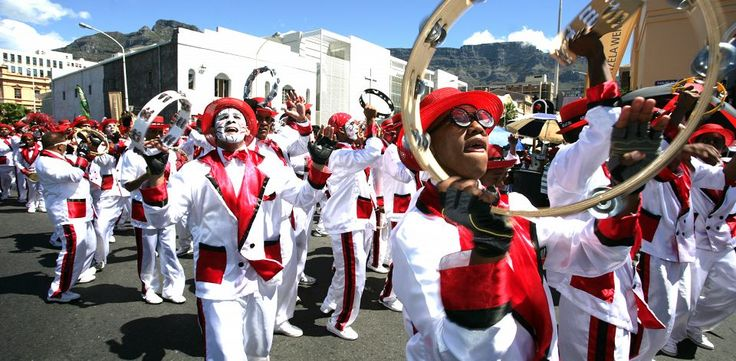 Cape minstrels celebrating the Kaapse Klopse.