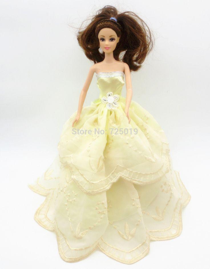 Дешевое 2015 ручной работы для куклы барби одежда платье платье лучший рождественский подарок ребенку bb35, Купить Качество Аксессуары для кукол непосредственно из китайских фирмах-поставщиках:                      1.99 цена одежды пожалуйста, не включая увидите кук