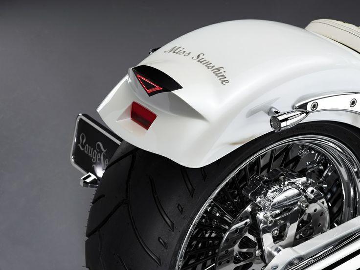 "The Caroline Wozniacki bike, hand build by Lauge Jensen motorcycles - ""Little Miss Sunshine"", Wozniackis nickname."