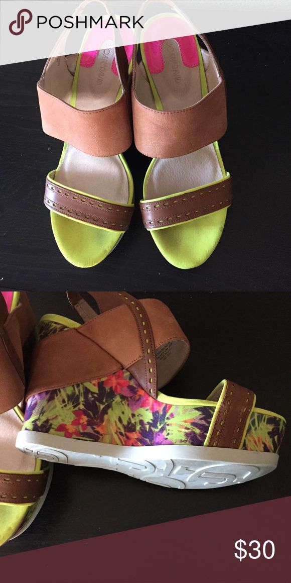 Joan &David Strap Wedge Shoes Worn once on special occasion. In good condition. Joan & David Shoes Wedges