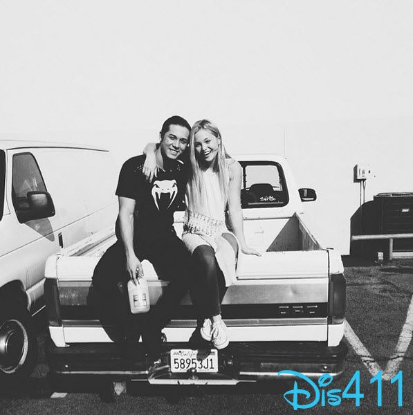 Photo: Olivia Holt Wished Leo Howard A Happy Birthday July 13, 2014