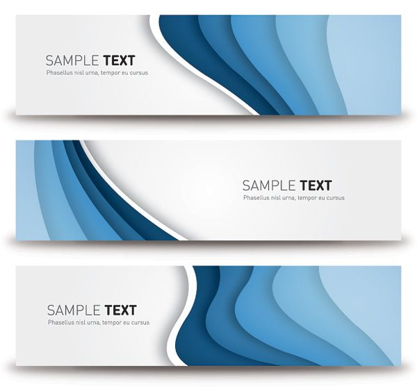 Blue Banners Vector Graphic - DryIcons