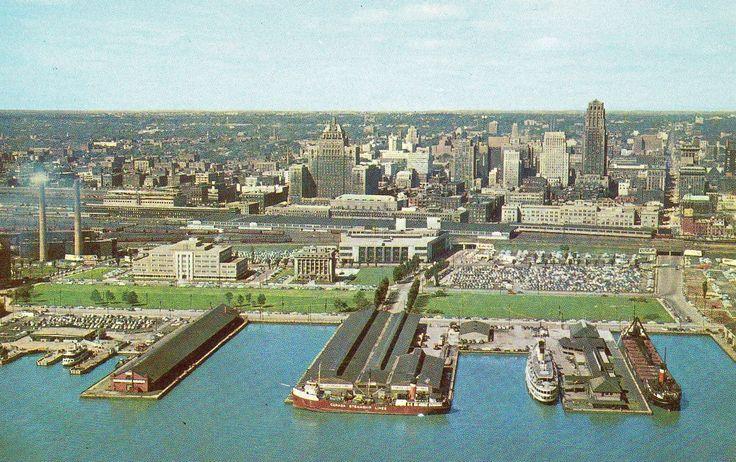 Skyline of 1950s Toronto