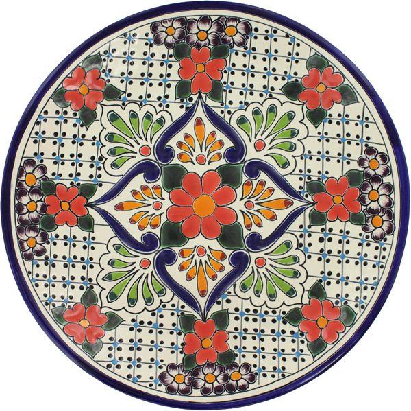 Talavera Ceramic Plate   Mexican Pottery