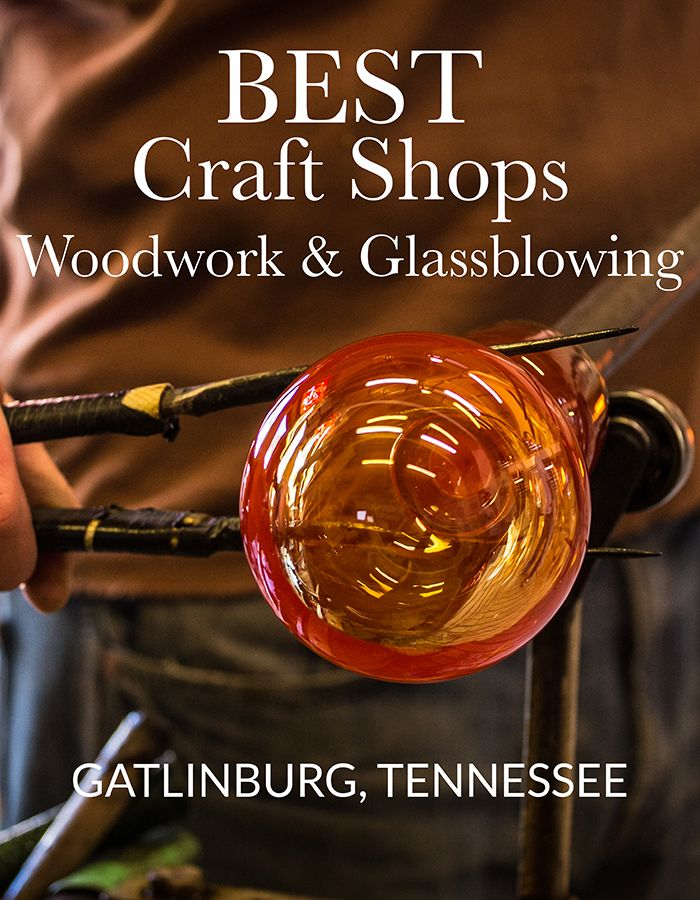 Find one-of-a-kind, handcrafted gifts for your loved ones this Christmas in Gatlinburg, TN. #greatsmokymountains #cabinsforYOU #Gatlinburg #PigeonForge #tennessee #glass #Gifts #authentic #glassblowing #gatlinburgGlass