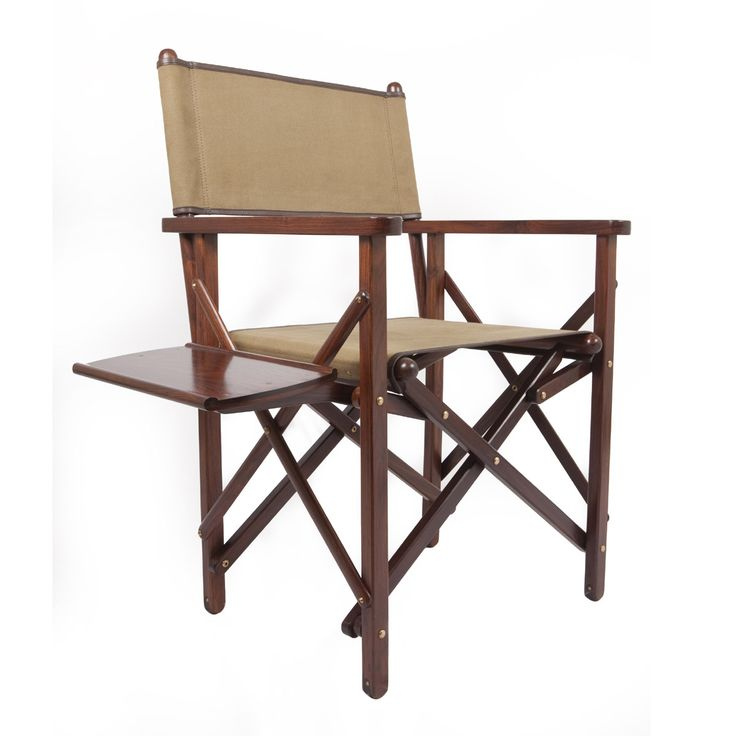 Product Details:  This folding salon chair made of rich rosewood; canvas and leather seat and back, with a folding side-tray is an outstanding example of Victorian campaign design. It was popularly used to furnish railway Salon cars of Indian Maharajas. Due to the strength and durability of the materials and construction and its easy portability the chair is perfectly suited for outdoor use or to compliment your home or office. Use it to park yourself anywhere in luxury and comfort…