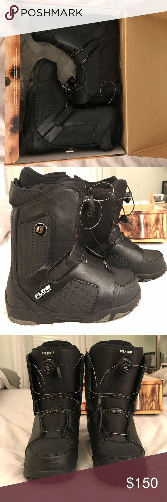 Brand New 'Flow Rival' Snowboard Boots Brand New in Box Snowboarding Boots. Size 8.5 men's. Purchased for $160, simply do not fit! Offers welcome but because they are brand new I am looking for reasonable offers! Get a great deal as summer ends! flow rival Shoes Athletic Shoes