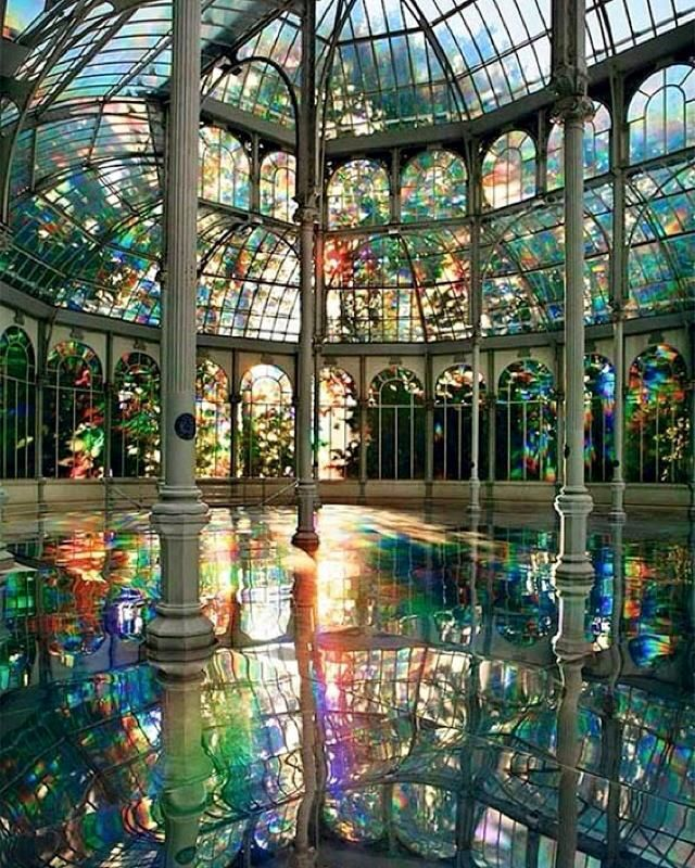 Diffraction in a Greenhouse - Inspiration for our upcoming collection.