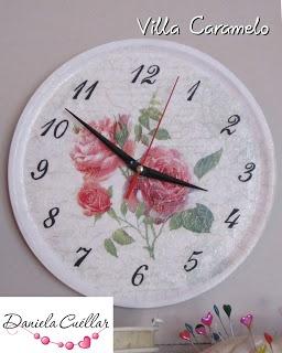 Reloj decoupage