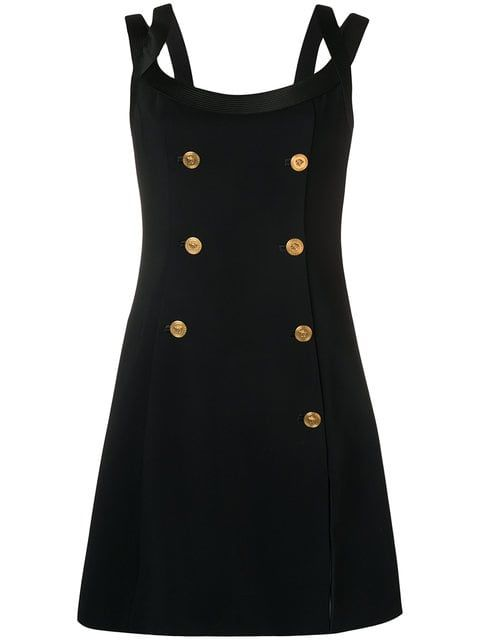 a60da642cc7 Versace Платье с Декоративными Пуговицами - Farfetch Versace Dress