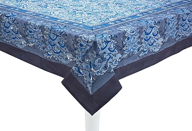 17 Best Images About Yule Table Linens On Pinterest Blue