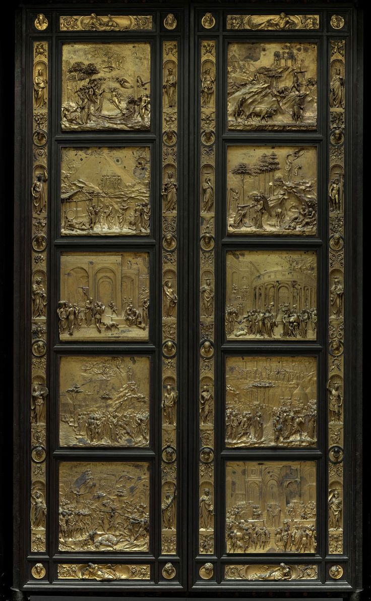 Cathedral Museum - Florence. The original Gate to Paradise by Lorenzo Ghiberti - 1452  now in the Museo dell'Opera del Duomo.