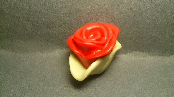 Red rose polymer clay charm