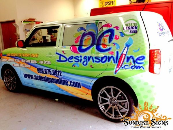 Website designer car wraps