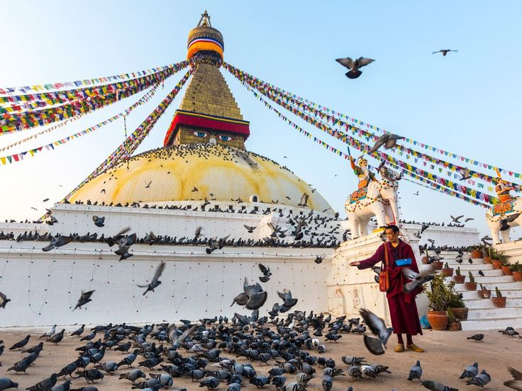 The date of Buddha's birthday, much like that of Queen Elizabeth II, can vary. In Nepal (Buddha's actual birthplace), it's celebrated on the full moon day in May, priming the country for a month-long celebration. Celebrate it at sites like the holy Boudhanath, one of the country's largest stupas, domed temples, or the main door of the Monkey Temple, Swayambhunath, which is only open for his birthday.