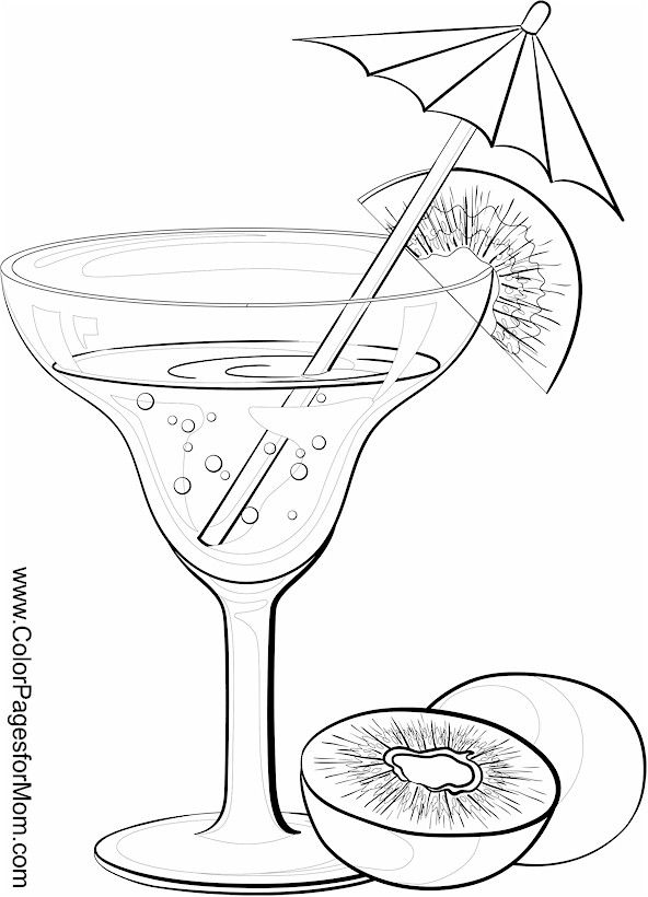 Adult Drinks Coloring Pages - Kidsuki