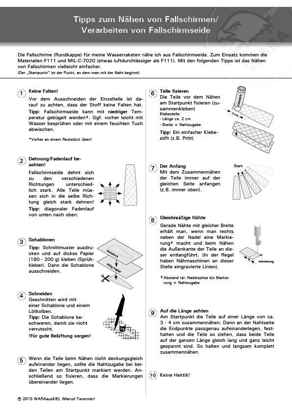 Fallschirme nähen. Tipps und Tricks