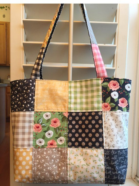 Summer tote,Quilted tote bag ,Handmade quilting tote bag,Summer shoulder bag,women's handbag, Gift for her,teacher, Mom